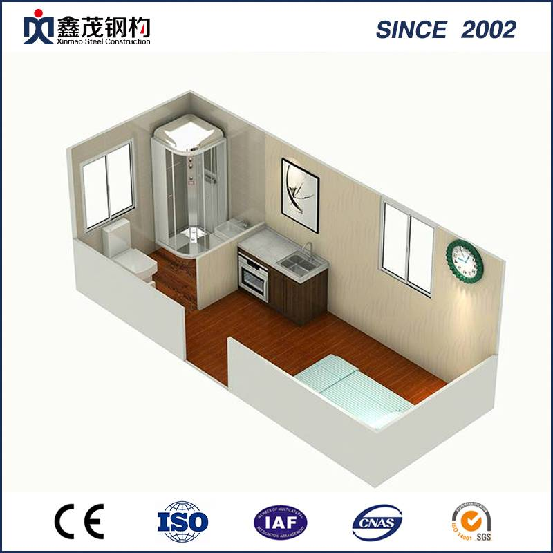 Prefabricated Shipping Container House Apartment with Toilet