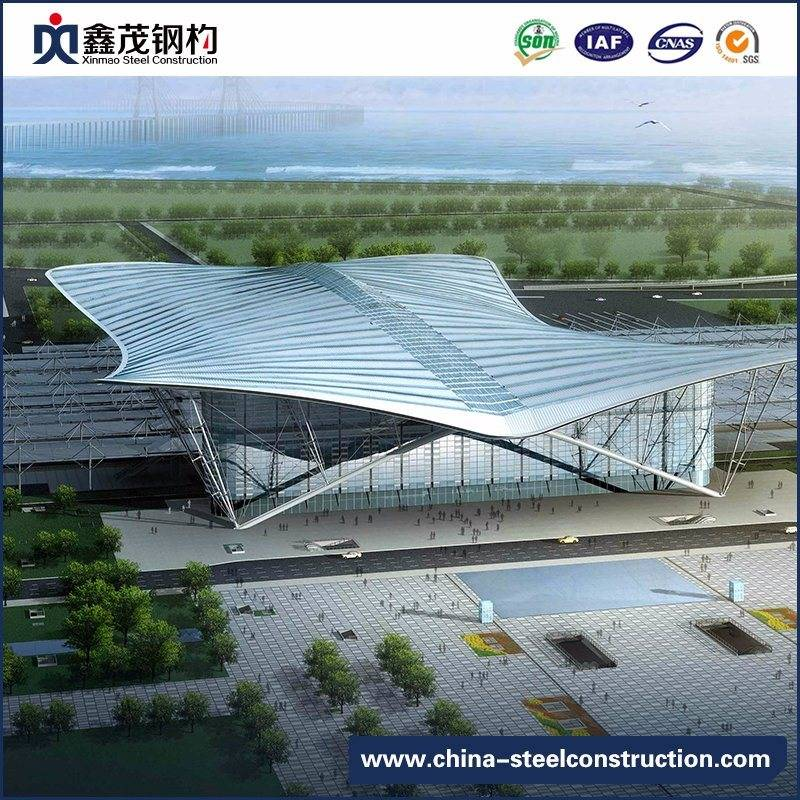 Prefabricated Steel Structure Building Stadium for Indoor Sports Center