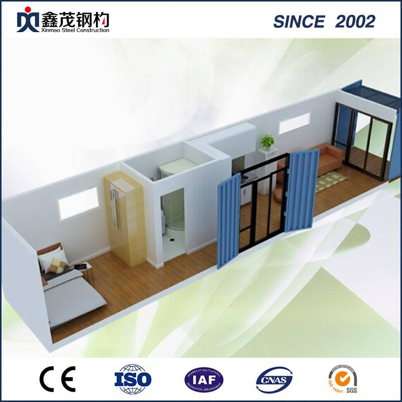 Sandwich Panel Flat Pack Container House for Single Apartment