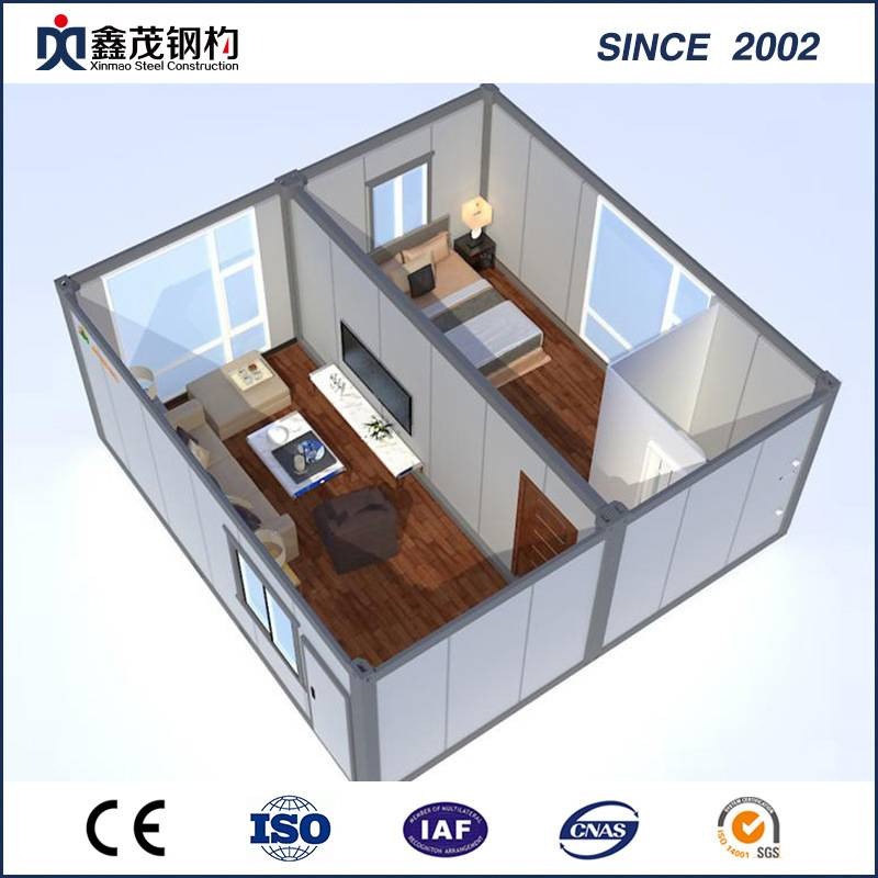 Standard Container House for Dormitary with Toilet and Living Room