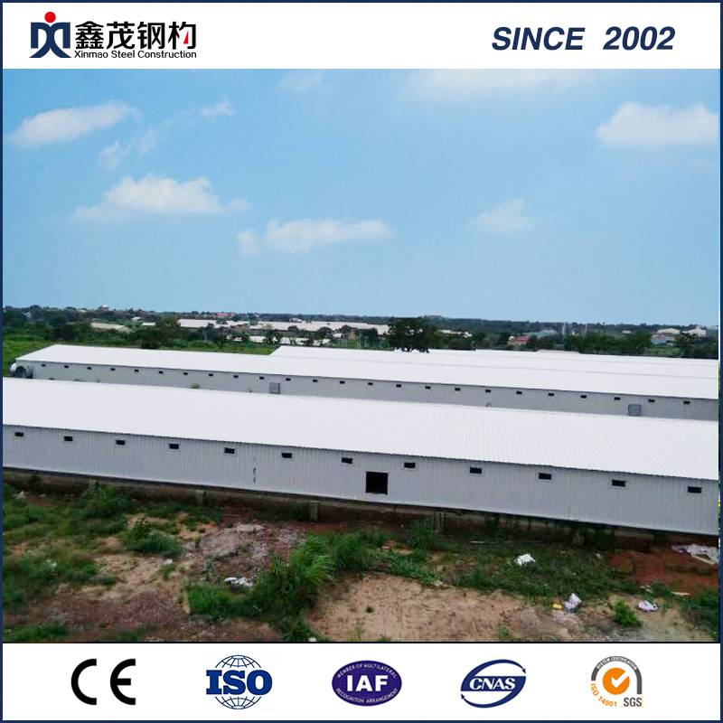 Steel Frame Easy Install Poultry House with ISO Certificate