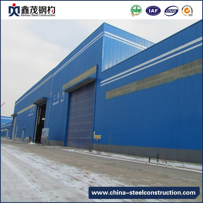 Steel Structure Factory with Large Span in Hot Sale