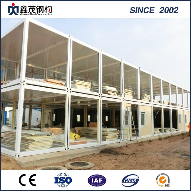 Workers Dormitory Container Camp on Construction Site