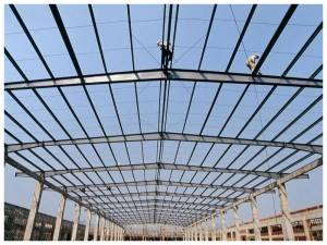 ISO Frame Steel Structure Jengo / Prefabricated Warehouse Made nchini China