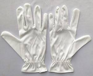 ustomizable logo polishing super microfiber jewelry white polyester gloves