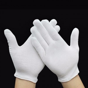 white cotton Moisture spa gloves and socks for eczema Item No.: HMD-5008