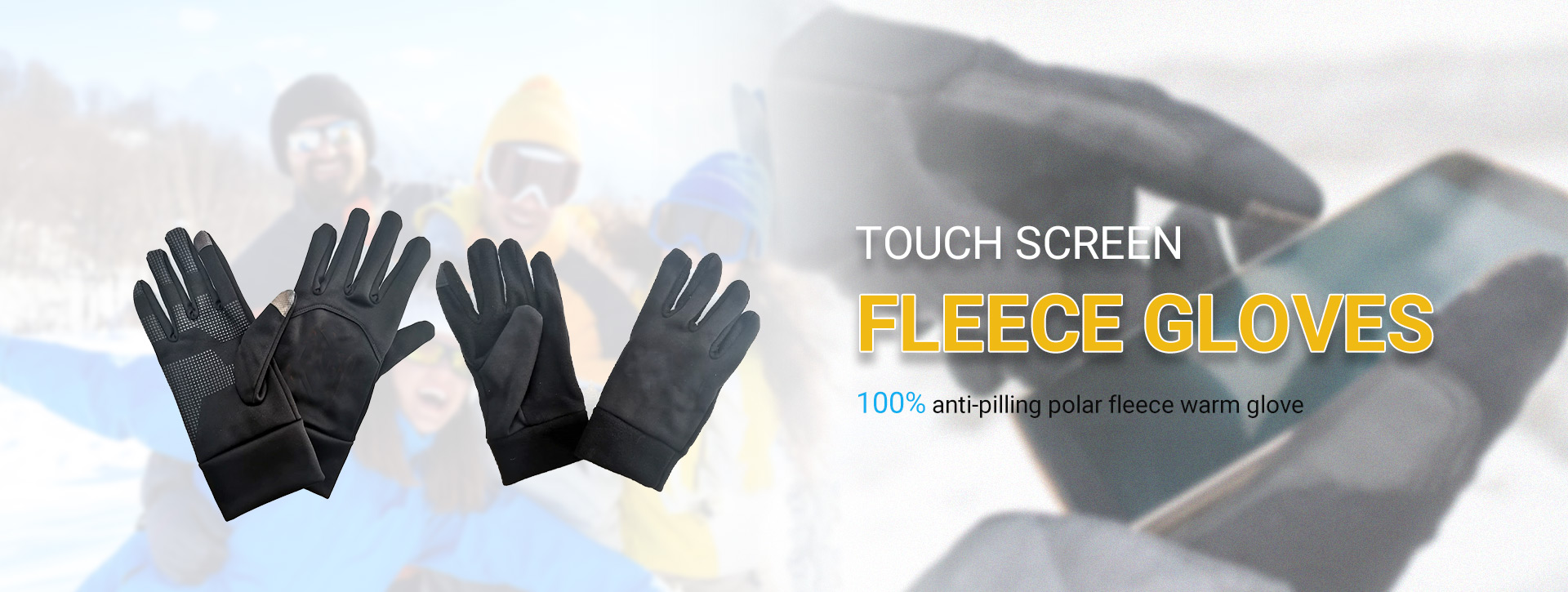 Touch Screen Fleece Glove