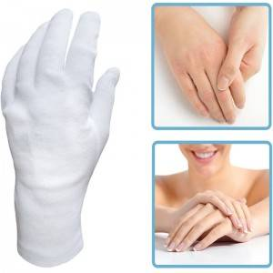 Factory making China Eczema Moisturizing Dry Hands Inspection White Cotton Gloves