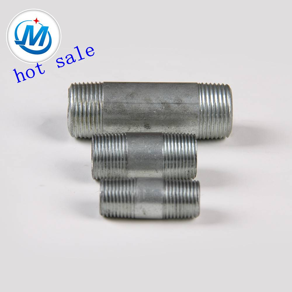 Galvanized and Black Male Threads Steel Pipe Nipple