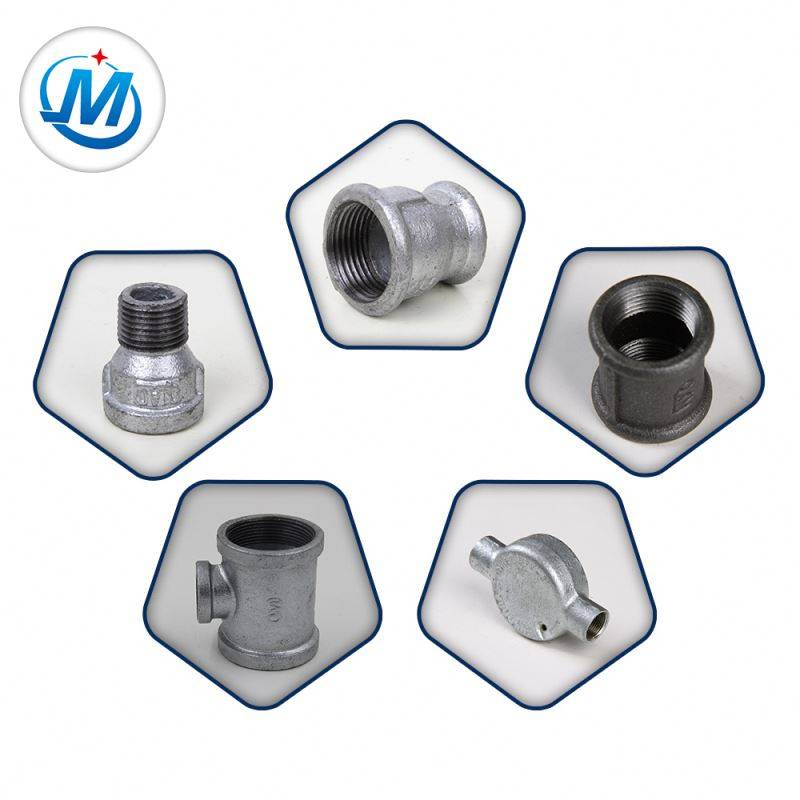 banded beaded bs npt thread galvanized malleable cast iron pipe fitting