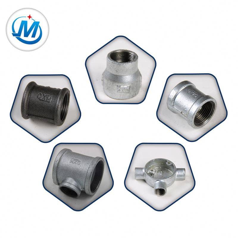 BS Thread Malleable Iron Gi Galvanized Pipe Fittings