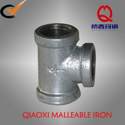 Malleable cast iron galvanized pipe fittings Tee
