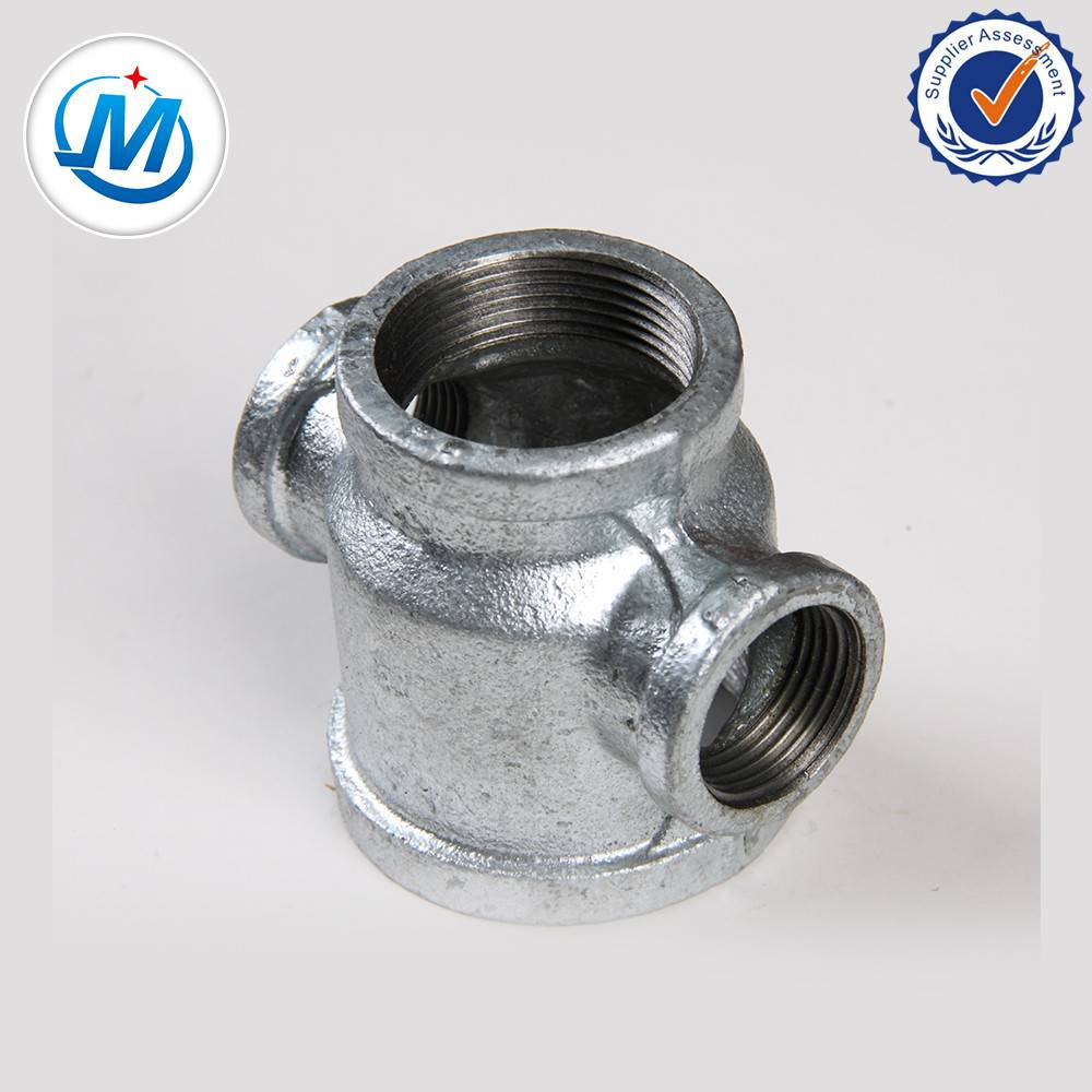 Good price galvanized malleable iron cross dn20 pipe fittings