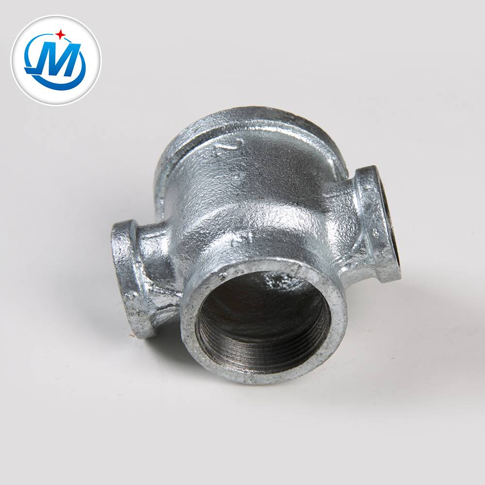 Casting iron pipe fitting four way tee pipe fitting