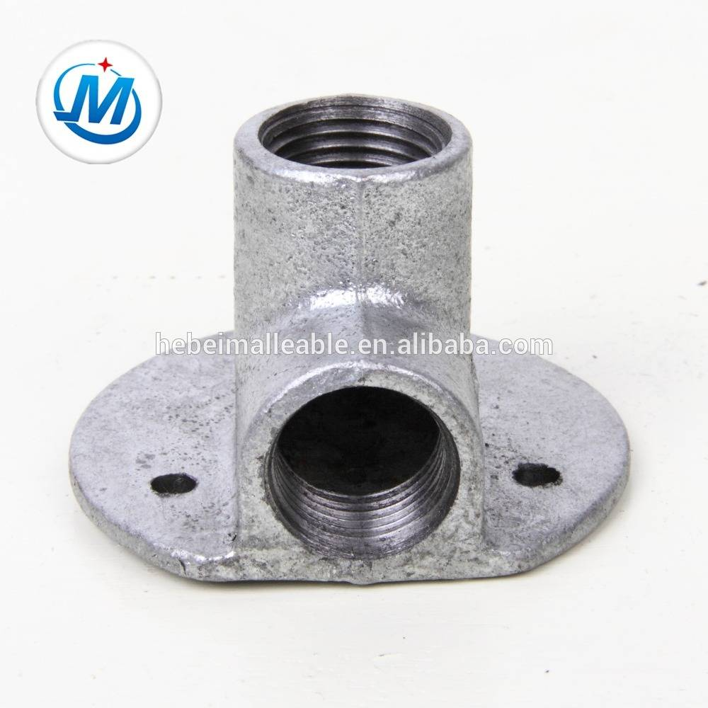 galvanized cast iron pipe fitting bracket elbow