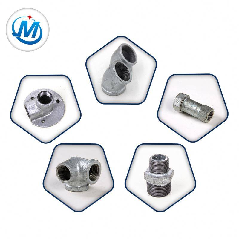 High Temperature BS Threads Plumbing Fitting Malleable Iron Pipe Fittings