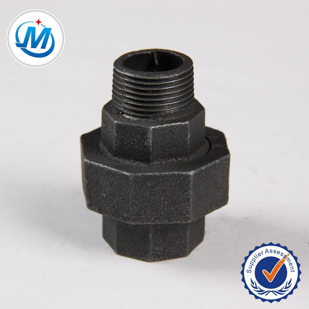 high quality NPT threaded malleable iron gas pipe fitting conical union male and female