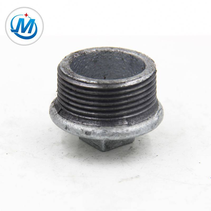Passed BV Test Connect Coal Use Square Head Galvanized Iron Male Plug