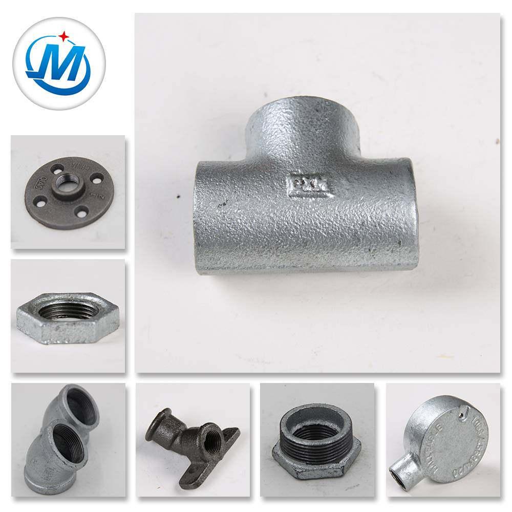 GIMalleable Iron Pipe Fittings Building Hardware ohun kan