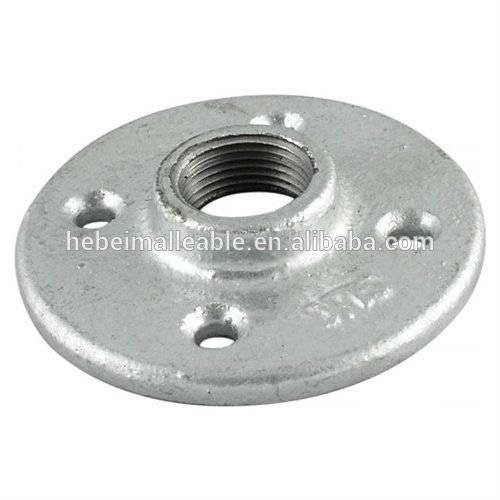 BS standard 321 galvanized malleable cast iron flange with 4 bolt holes