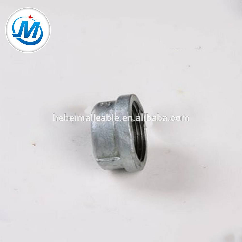 hot dipped galvanized banded malleable iron pipe fitting cap301