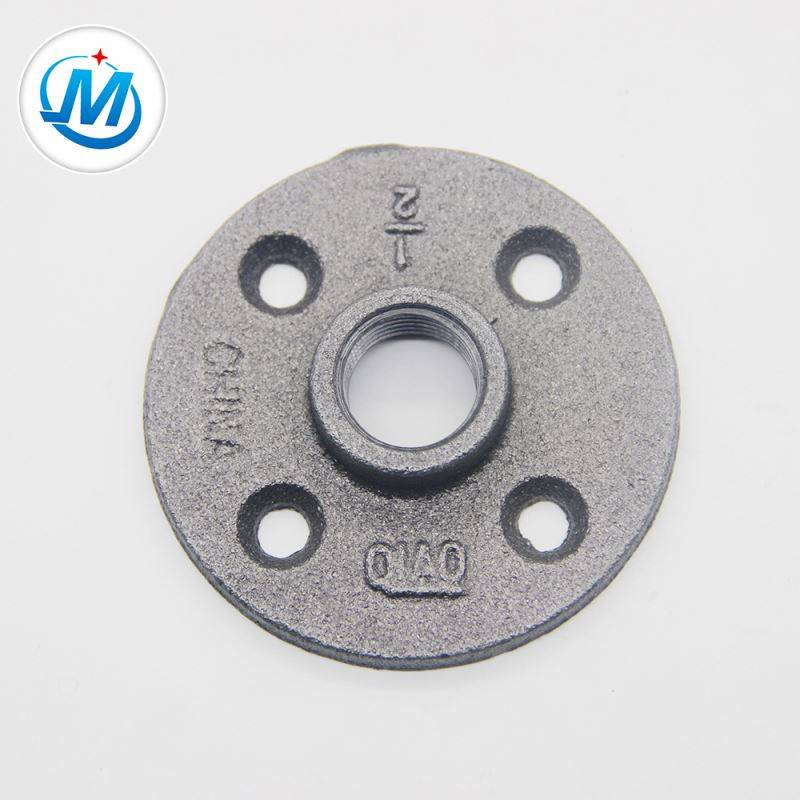 "1.6Mpa Working Matsa lamba 1 ""Malleable Cast Iron Floor flange"