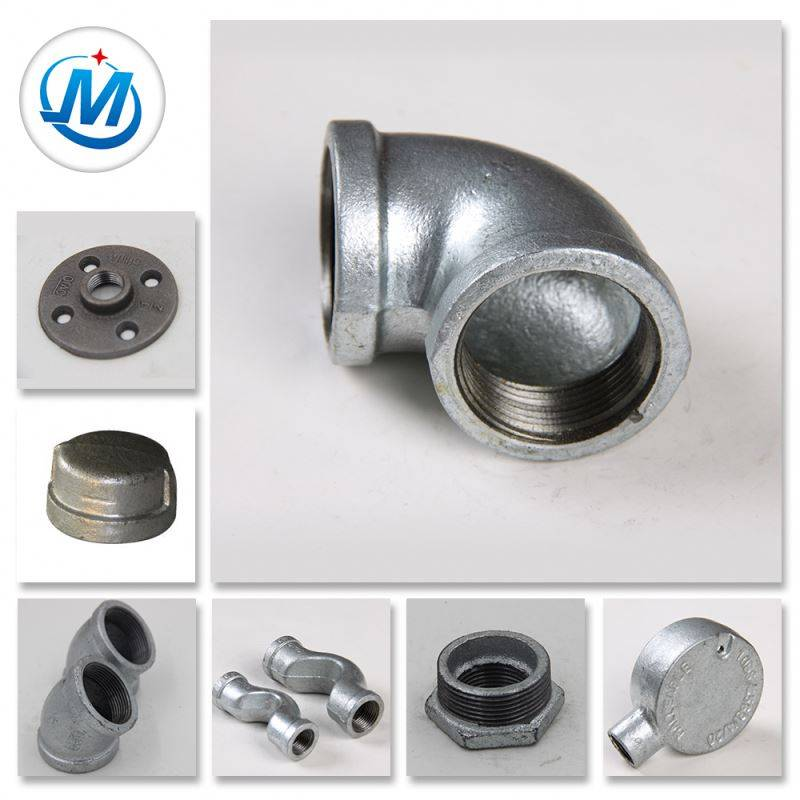 Banded Galvanized Malleable Cast Iron Oil And Gas Pipe Fitting