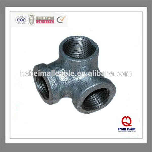 hebei factory supply low price elbow NO. 90 china round galvanized malleable iron 3 way elbow pipe fittings