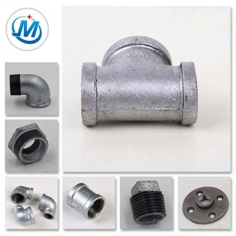 Oil Resistant Cross Beaded Galvanized Malleable Iron Pipe Fittings