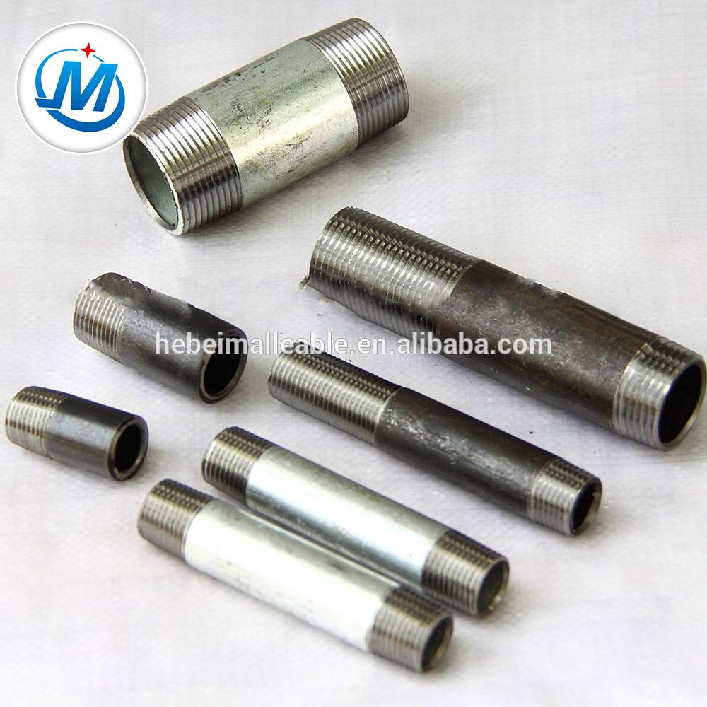 high quality carbon steel pipe fittings long screwed nipple