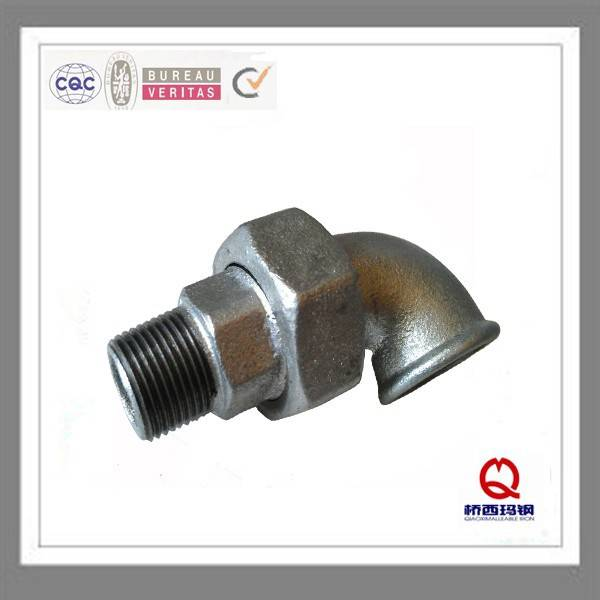 DIN threaded gas malleable iron pipe fitting elbow gasket union