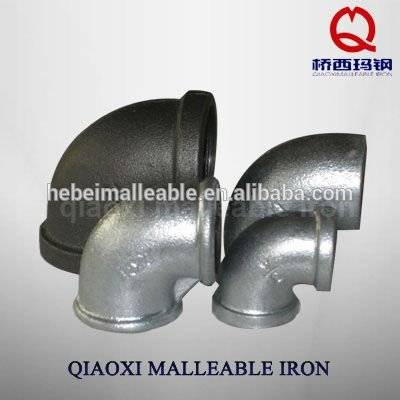 di pipe fitting eccentric reducer 90 degree elbow galvanized malleable iron good quality and low price