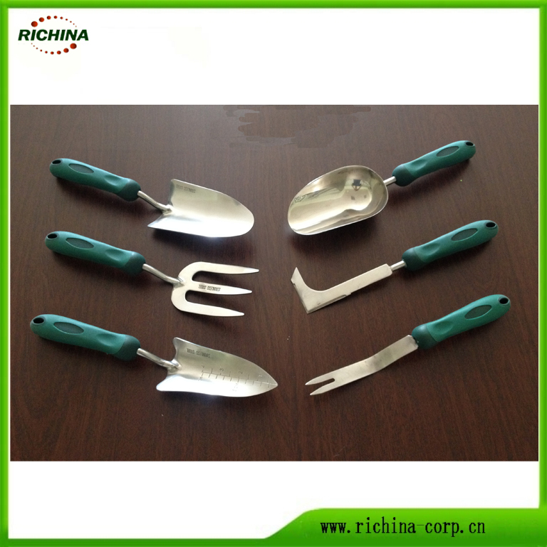 Stainless Steel Taman Hand Tools dengan Handle Plastik