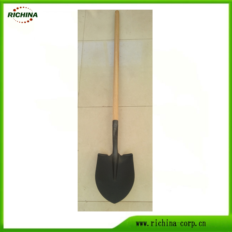 Long Wood Behandel Digging Steel Shovel
