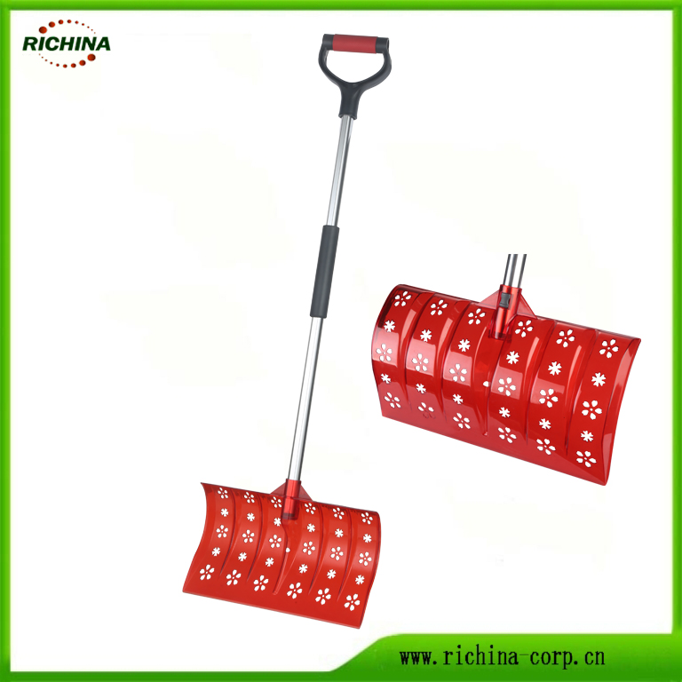 Plast Snow Pusher Shovel með Hollow Skreytt Head