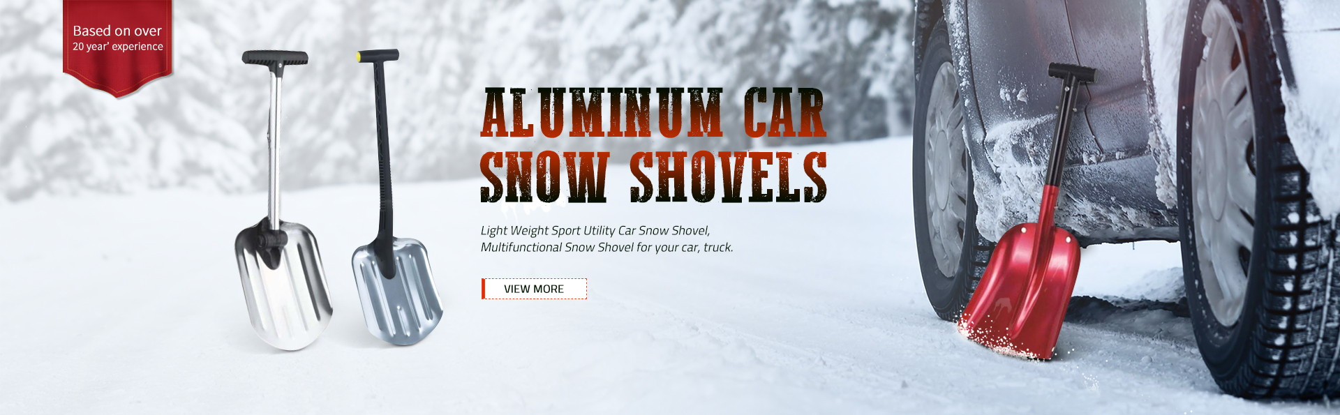 Aluminum car snow shovels