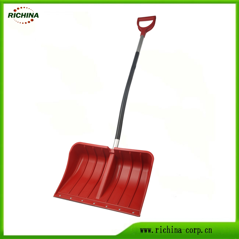 Poly Snow Push Shovel with Aluminum Handle