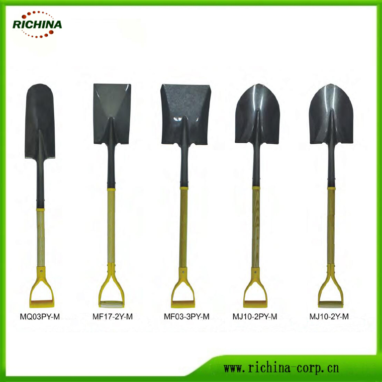 Wood Handle Carbon Steel Shovels