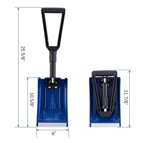Collapsible Folding Snow Shovel með D-handfangi