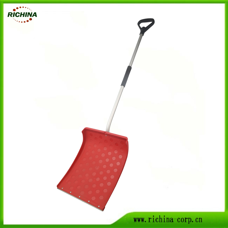 Snow Shovel Pusher with Durable Metal Edge