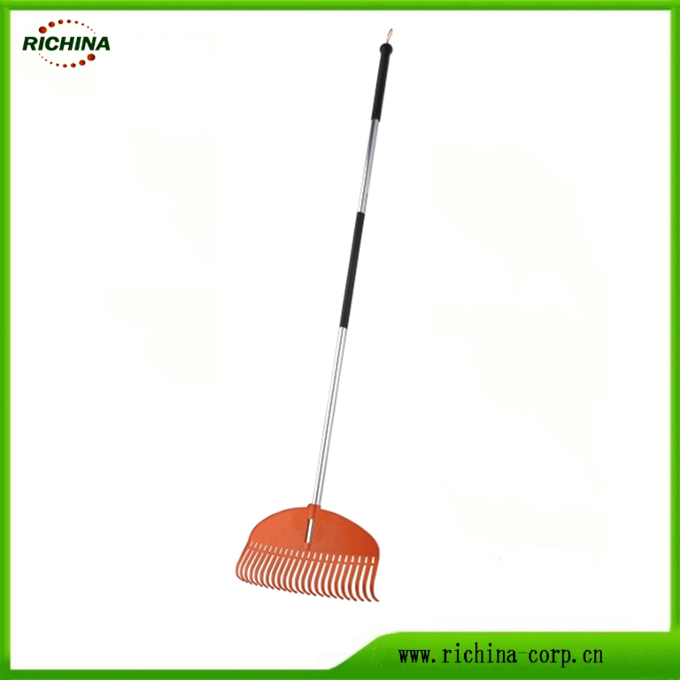 Comb Plastic Garden Rakes with Steel Handle