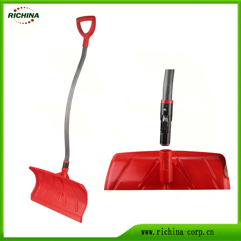 Ergonomic Snow Pusher gyda Poly Blade