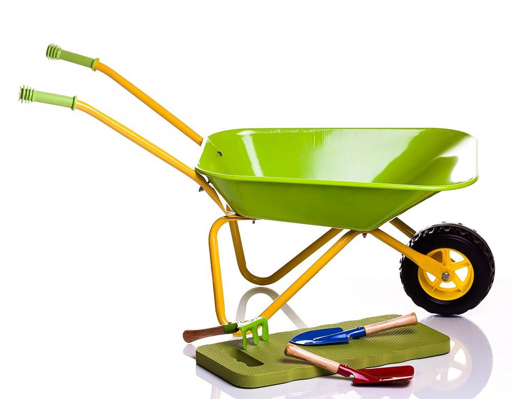 Kids wheelbarrow bil Garden Għodod Set
