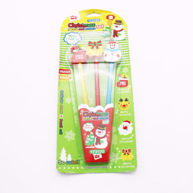 Kids stationery set pencil with eraser top