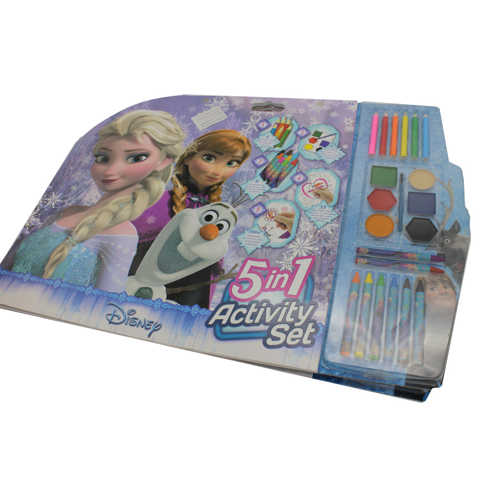 Disney Drawing book set for girls activity set,Disney 5 in 1 activity set