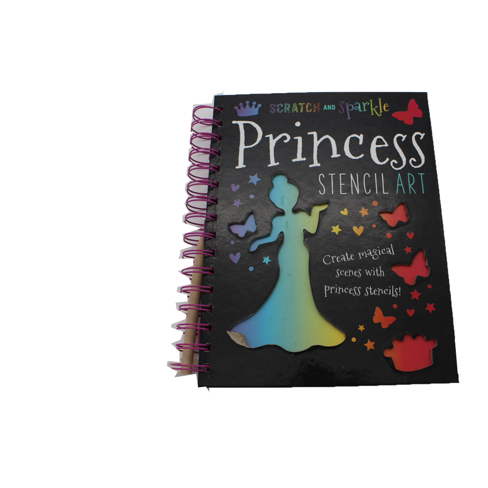 Magical stencil art set , spiral notebook set