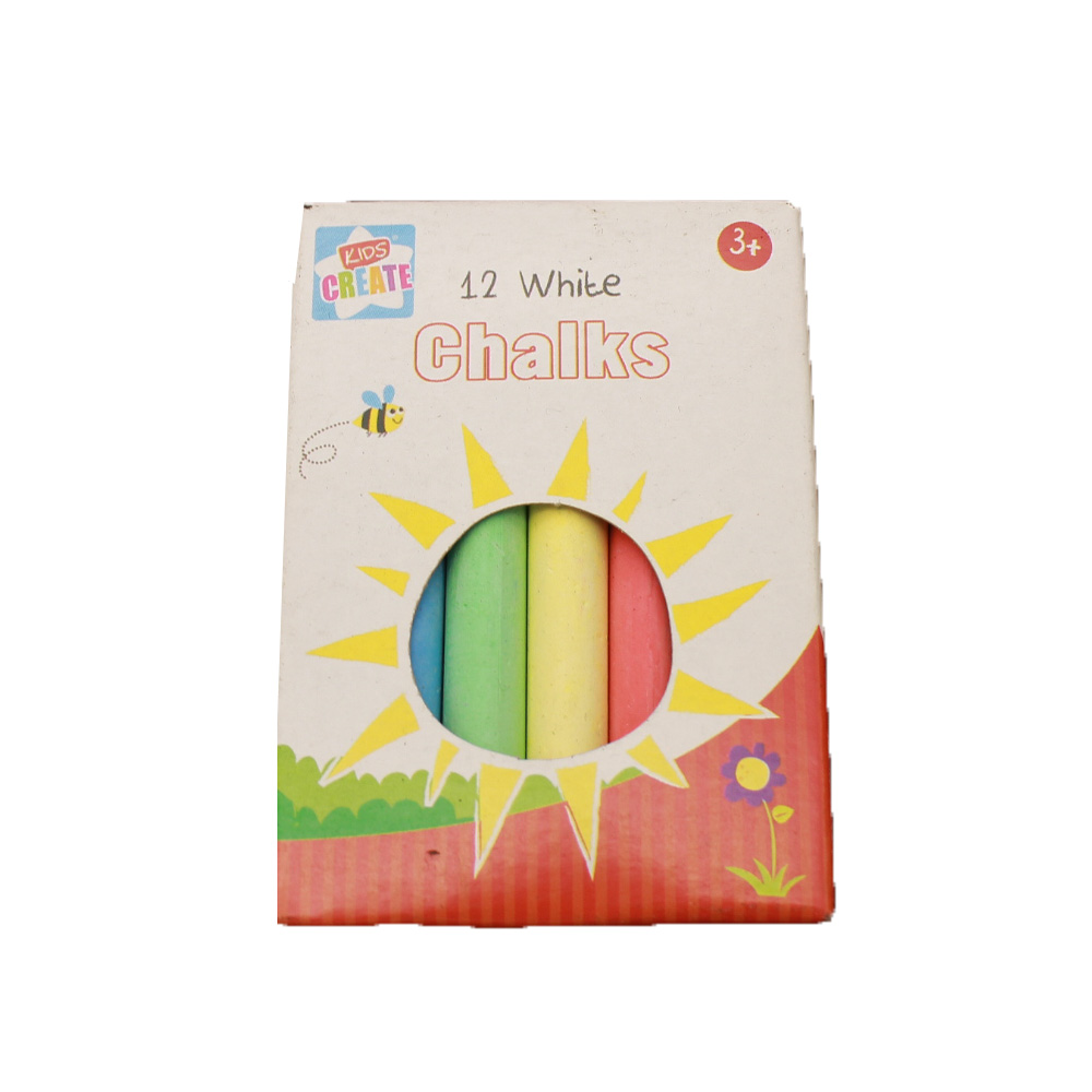 White and Colored Dustless School Chalk