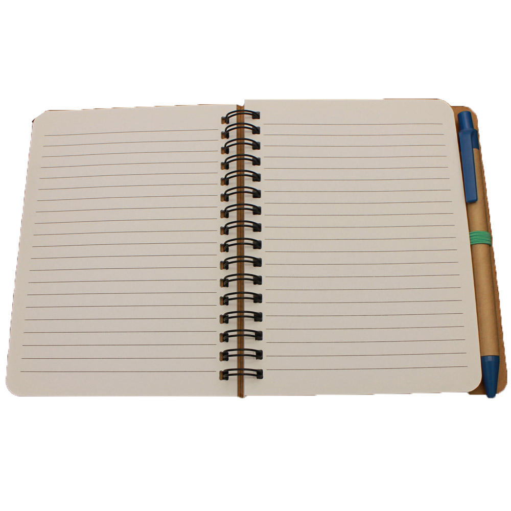 Factory Promotional Stationery Set In Pvc Bag - Ricky NB-R001 hot selling sprial paper notebook with ball pen – Ricky Stationery