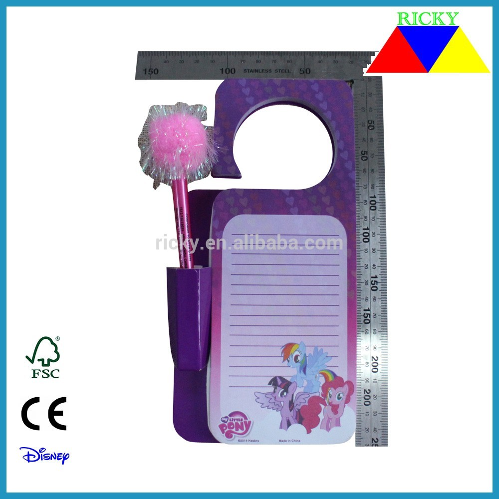 OEM Factory for Stationery Set For Kid - NB-R072 fancy kids notepad with ball pen – Ricky Stationery Featured Image