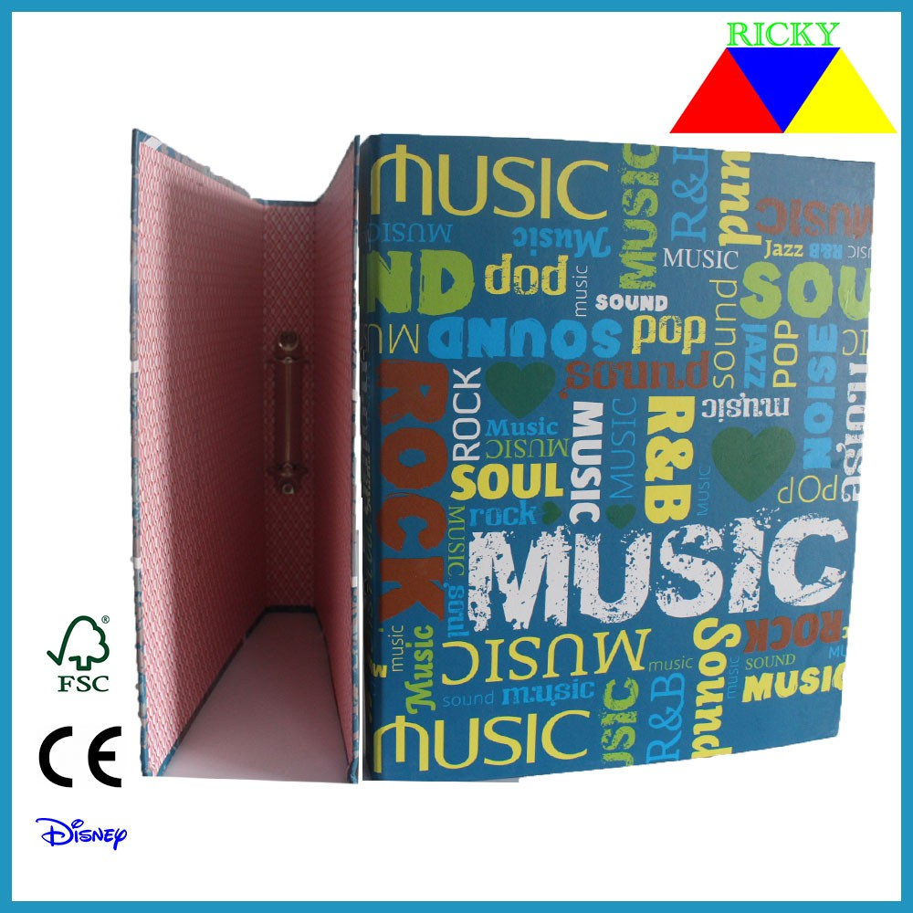 Ricky FF-R004 Wholesale High Quality Low Price Custom Design Ring Binder full color printing ring binder